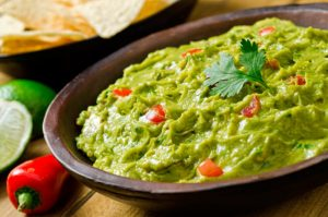 salsa guacamole con avocado